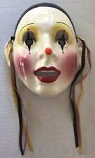 Vintage Ceramic Wall Mask Mime Clown Clay Art San Francisco About Face