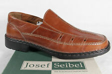 Seibel Slippers Sneakers Low Shoes, Braun, Leather Removable Footbed New