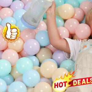 50Pcs Outdoors Soft Plastic Ocean Ball Baby Kids Toy Swim Pit Pool TOP