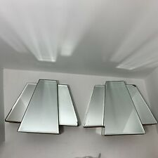 Vintage Art Deco Style Wall Sconces Mirror Book Ends
