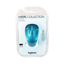 Logitech Wireless Optical Mouse - Teal Maze M317