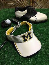 U of M University of Michigan Wolverines Adjustable Cap Hat Visor H6