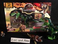 BNIB Indominus ! Tyrannosaurus Park for use w/ Jurassic world Lego toy Dinosaurs
