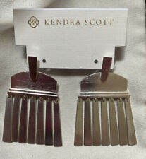 New Kendra Scott Layne Brushed Silver Earrings  $95.00