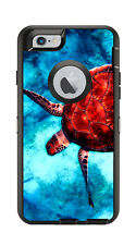 Skin Decal Wrap for Iphone 6 6s Otterbox Defender Case Deep Sea Turtle Swimming