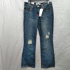 Levi's 518 Super Low Boot Cut Women's Jeans Size 11 Destroyed