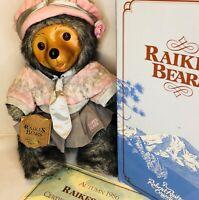 Robert Raikes Daisy Glamour Teddy Bear Box COA Tag Vintage 1986 Applause