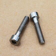 2 Pcs M6 x 30mm Ti Cup Head Six Angle Bolt Titanium Screw 6AL4V Aerospace Grade
