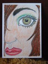 "ACEO Original Prismacolor Pencil Drawing ""Unimpressed"" by NuoVo"
