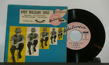 ANDY    WILLIAMS  SINGS   1958  FESTIVAL    EP  Jazz