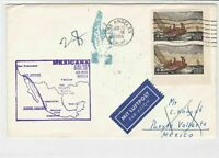 United States 1966 Mexicana Airlines 1st Jet Airmail Map Stamps Cover ref 22800