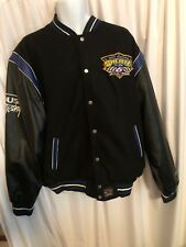 NASCAR Mark Martin Men Faux Leather And Wool Reversible Jacket Racing Legend 2xl