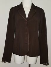 Motherhood Maternity Brown Blazer Jacket Size Small Career Pink Lined Lace Wrist
