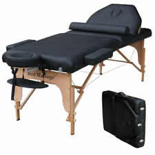 "Professional 77"" Long 30"" Wide 4"" Pad Reiki Portable Massage Table Black"