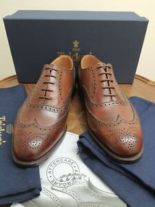 Mens Trickers Norfolk Wingtip Shoes Rrp£375 Size 9