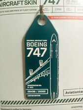 Aviationtag Cathay Pacific B-HUI B747 Pure Green