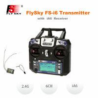 Flysky FS-i6 AFHDS 2A 2.4Ghz 6CH Radio Transmitter w/ Receiver for RC Toys M7H5