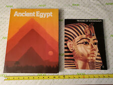 National Geographic ANCIENT EGYPT Coffee Table Book & Treasures of Tutankhamun