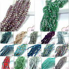 Beautiful hot 200pcs Faceted Glass Jade Crystal Charms Rondelle Loose Beads 3mm