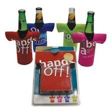 CellarDine Design a Beer Bottle Chillers Multi-colour Set of 4