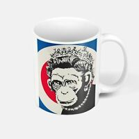 Mug Céramique Banksy Monkey Queen Reine d'Angleterre Singe Street Art
