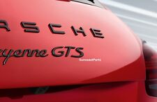 "Porsche ""GTS"" Emblem in Black - 911 991 958 981 Carrera Boxster Cayman Cayenne"