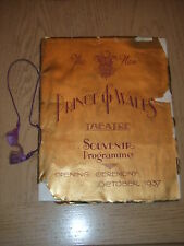 Oct 1937 Prince Of Wales London Folies Theater Program OWNED BY EDDIE FOY JR III