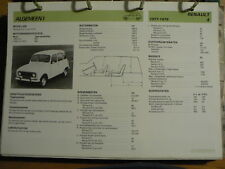 RENAULT 4 1977-79 INFO TECHNICAL INFORMATION CAR AUTO OLY086
