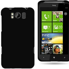For AT&T HTC Titan X310E Case - Black Rubberized Hard Faceplate Cover