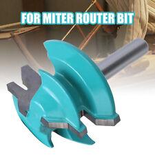 45 Degree 1/4'' Shank 1-1/2'' Small Lock Miter Router Bit Tenon Cutter Tools
