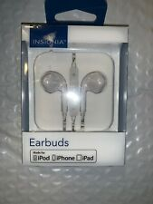 NEW Insignia Earbud Headphones - Off-White For iPhone / iPad / iPod NS-CAHEP2