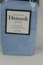 Charter Club Damask Solid 550TC Supima Cotton STANDARD Pillowcases Marine $70