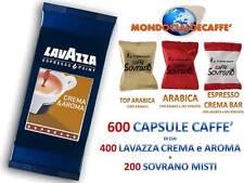 600 CIALDE CAPSULE = 400 LAVAZZA CREMA E AROMA ESPRESSO POINT +200 CAFFE SOVRANO