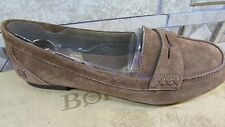 NEW BORN DOROTA SUEDE PENNY LOAFER SHOES WOMENS 6 RUST #B43326