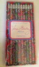 Retired Vera Bradley Set 10 Pencils Cupcakes Pink Green Hope Garden Purple Punch