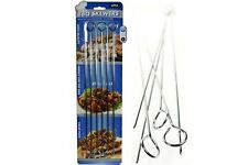 1 x 6pce BBQ Skewers 38cm Stainless Steel