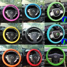 Coche Cubierta Funda Volante Cuero Silicona Steering Wheel Shell Cover Suave