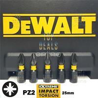 DeWALT PZ2 Impact Screwdriver Extreme Torsion Bits Pozi 25mm Fits Bosch & Makita