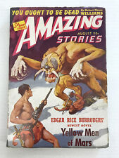 AMAZING STORIES-VOLUME 15-NUMBER 8-AUGUST 1941-PULP-F 6.0