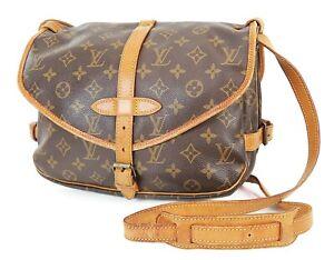 Authentic LOUIS VUITTON Saumur 30 Monogram Crossbody Shoulder Bag Purse #38028