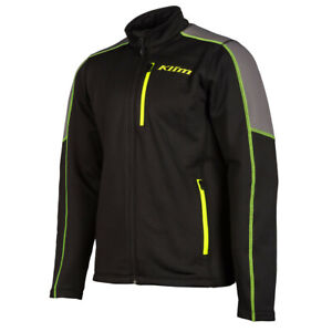 New Men's Klim Inferno Jacket ~ Black/ Hi-Vis ~ L ~ # 3354-006-140-300