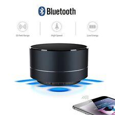 A10 Mini parlante estéreo Bluetooth Altavoz De Metal Radio FM para iPhone 6s 6-Negro