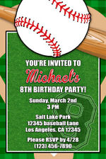 Baseball Invitations - Personalized - Birthday Party - Shipped or Printable