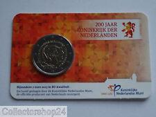 Netherlands 200 Jaar Koninkrijk der Nederlanden 2 euro 2013 BU Coincard