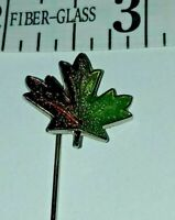 Vintage Maple Leaf Enameled Hat Lapel Stick Pin Autumn Fall Thanksgiving brooch