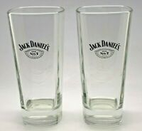 2 x JACK DANIELS TALL GLASSES - GLASS TUMBLER HOME BAR WHISKEY WHISKY HI BALL