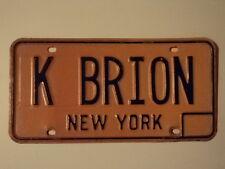 EXPIRED VINTAGE NEW YORK VANITY License Plate K BRION NY