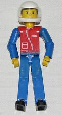 LEGO TECHNIC FIGURE RED TORSO BLUE ARMS AND WHITE RACE CAR DRIVER HELMET