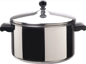 Farberware Classic Stainless Steel 6-Quart Stockpot with Lid Stainless Steel Pot