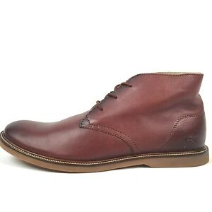Lacoste Sherbooke Hi 5 Mens Size 12 EUR 46 Brown Chukka Boots NIB A0471